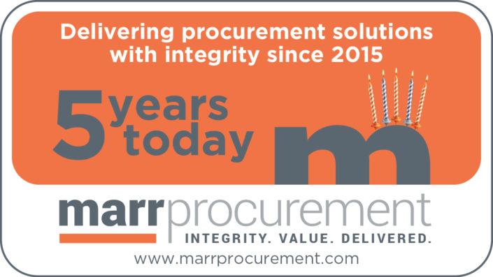 Happy 5th Birthday Marr Procurement!